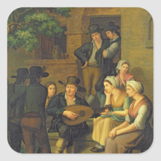 Den blinda sångaren, 1828 fyrkantigt klistermärke