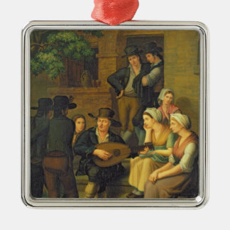 Den blinda sångaren, 1828 julgransprydnad metall
