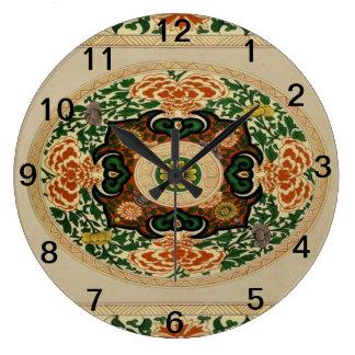 Den blom- akrylen för Mång--Färg Mandalamönster Stor Klocka
