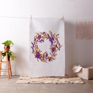Den blom- blommakranen planterar botanisk tyg
