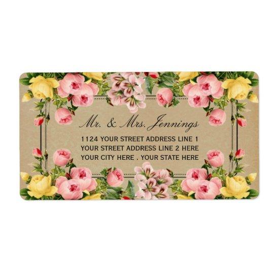 Den blom- bröllopsamlingen för elegant vintage fraktsedel