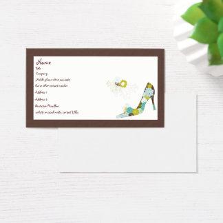 Den blom- kickhälet skor visitkort