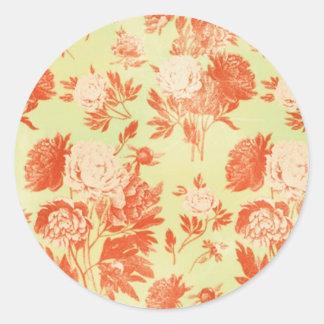 Den blom- orange klistermärken för