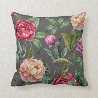 Den bohemiska blommigten dämpar dekorativ kudde