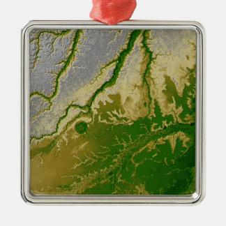 Den bolivianska amasonen julgransprydnad metall
