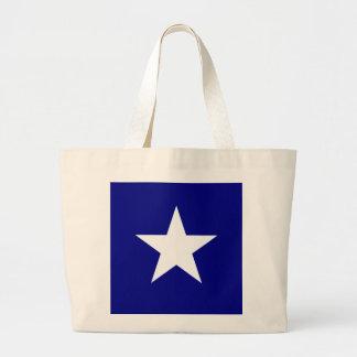 Den Bonnie blåttflagga med Lone vitstjärnatoto Jumbo Tygkasse