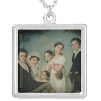 Den Boratynsky familjen, 1816 Silverpläterat Halsband