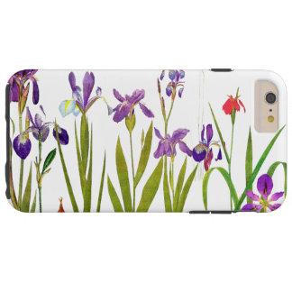 Den botaniska irisen blommar blom- Irises Tough iPhone 6 Plus Fodral