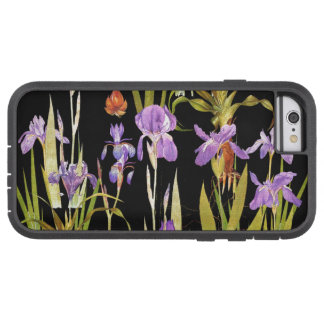 Den botaniska irisen blommar blom- Irises Tough Xtreme iPhone 6 Case