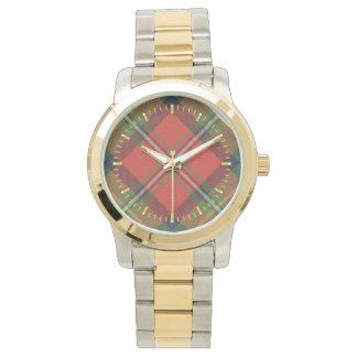 Den Boyd tartanen Två-tonar klockan Armbandsur