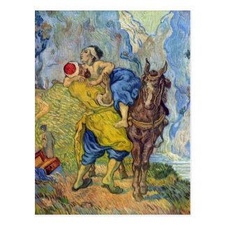 Den bra barnsamariten av Vincent Willem Van Gogh Vykort