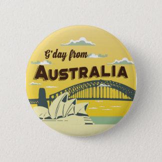 Den bra dagen från den Australien rundan knäppas Standard Knapp Rund 5.7 Cm