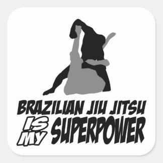 Den brasilianska jiujitsuen är min superpower fyrkantigt klistermärke