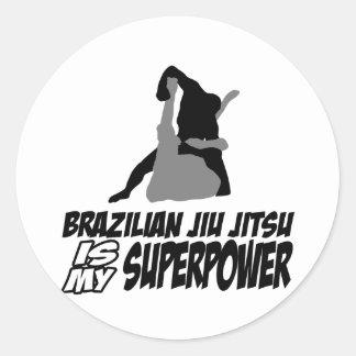 Den brasilianska jiujitsuen är min superpower runt klistermärke