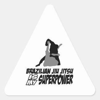 Den brasilianska jiujitsuen är min superpower triangelformat klistermärke