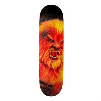 Den brinna vargmanen parkerar stiger ombord mini skateboard bräda 18,7 cm