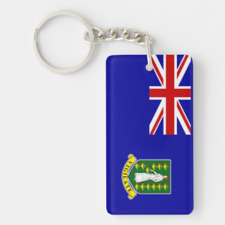Den British Virgin Islands flagga Rektangulärt Dubbelsidigt Nyckelring I Akryl