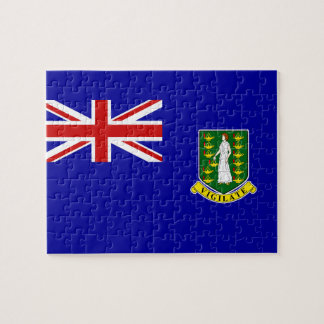 Den British Virgin Islands flagga Jigsaw Puzzle