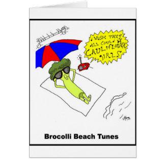 Den Brocolli stranden trimmar Hälsningskort