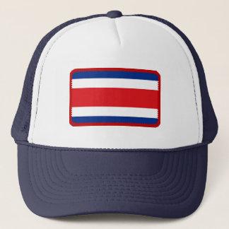 Den broderade Costa Rica flagga verkställer hatten Keps
