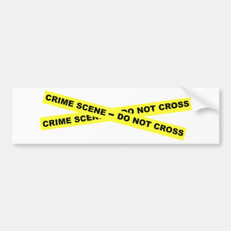 Den brotts- platsen - korsa inte bildekal