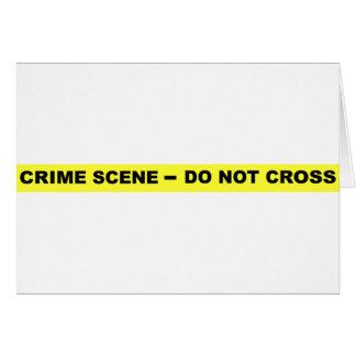 Den brotts- platsen - korsa inte hälsningskort