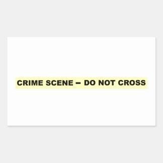 Den brotts- platsen - korsa inte rektangulärt klistermärke