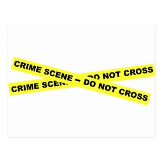 Den brotts- platsen - korsa inte vykort