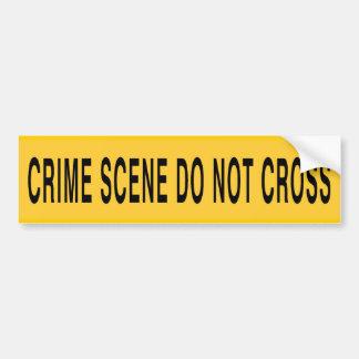 Den brotts- platsen korsar inte bildekal