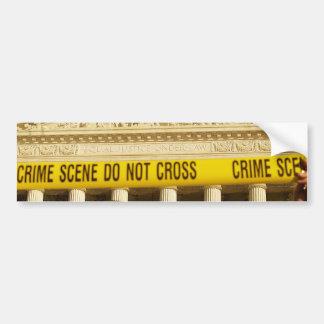 Den brotts- platsen korsar inte U.S.-högsta Bildekal