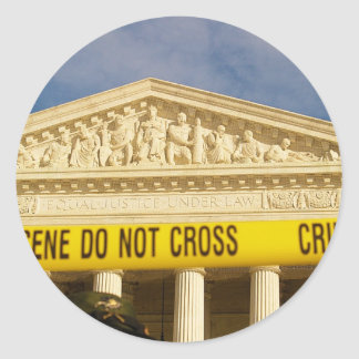 Den brotts- platsen korsar inte U S -högsta domsto Klistermärken