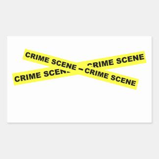 Den brotts- platsen tejpar rektangulärt klistermärke