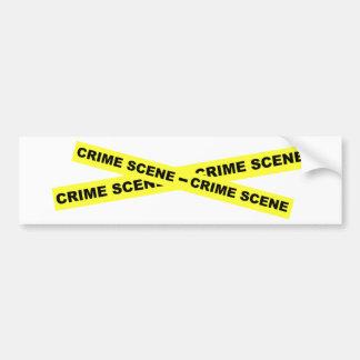 Den brotts- platsen tejpar bildekal