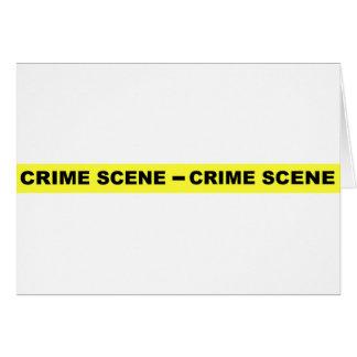 Den brotts- platsen tejpar hälsningskort