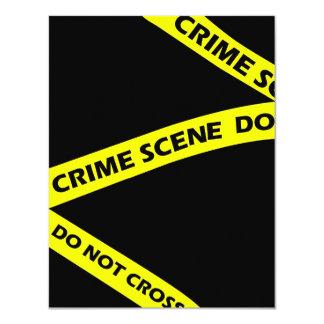 Den brotts- platsen tejpar inbjudan för