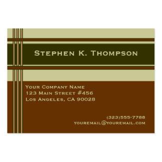 Den bruna gröna professionellen görar randig set av breda visitkort