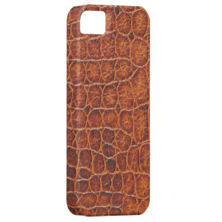 Den bruna krokodilen flår fodral för iPhone 5 iPhone 5 Skal