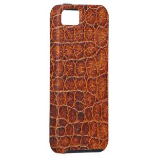 Den bruna krokodilen flår tufffodral för iPhone 5 iPhone 5 Skydd