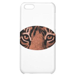 Den bruna tigern synar de MUSEUMZazzle gåvorna iPhone 5C Skal