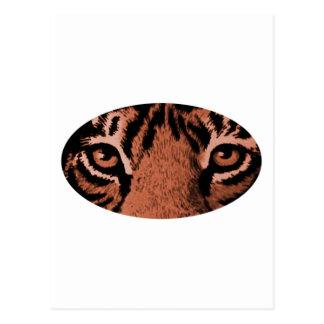 Den bruna tigern synar de MUSEUMZazzle gåvorna Vykort