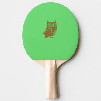 Den bruna ugglapingen Pong paddlar Pingisracket