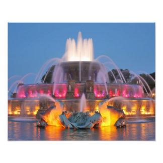 Den Buckingham fontännatten beskådar Fototryck