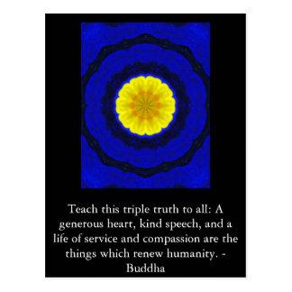 Den Buddha QUOTATIONEN - undervisa denna Vykort
