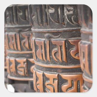 Den buddistiska bönen rullar klistermärken
