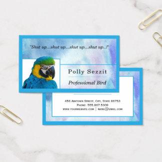 Den bygga bo blåttvattenfärgtrendiget kantar visitkort