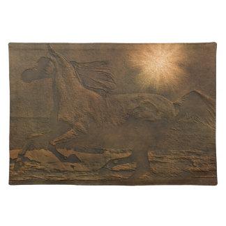 Den Cantering klämmiga hästfauxen för vilden Läder Bordstablett