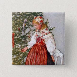 Den Carl Larsson julgranen knäppas klämmer fast Standard Kanpp Fyrkantig 5.1 Cm