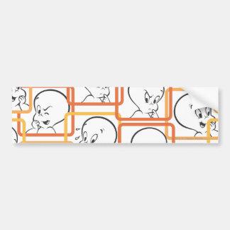 Den Casper orangen kvadrerar Bildekal