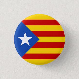 Den Catalonia Estrellada flagga knäppas Mini Knapp Rund 3.2 Cm