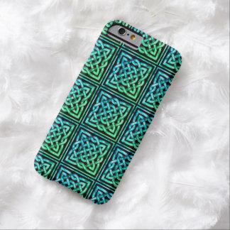 Den Celtic fnurran - kvadrera blåttgrönt Barely There iPhone 6 Fodral